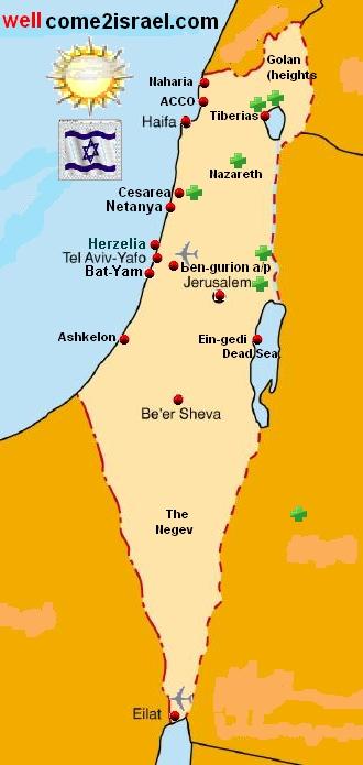 Tel Aviv Hotels Israel Israel Map